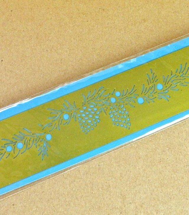 オランダ真鍮製ステンシルプレート 松ぼっくり DA-SP003の画像1枚目