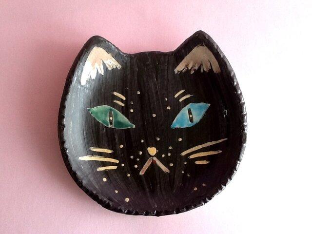 ねこ皿 黒猫の画像1枚目