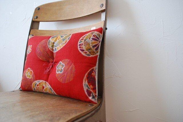 かき餅座布団『手毬』赤の画像1枚目