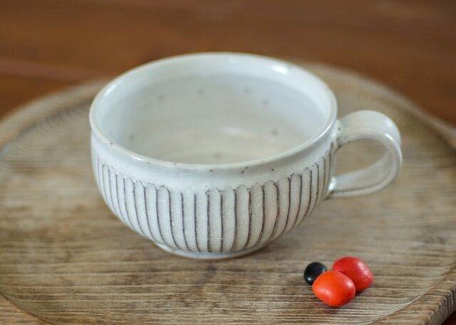 スープカップ(白/鎬)の画像1枚目