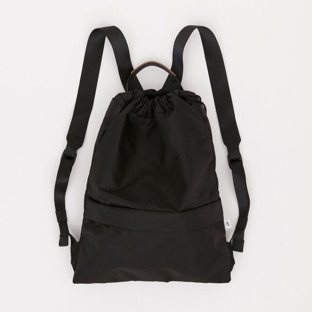 リモンタナイロン/きんちゃく型リュック「Twill/Knap」 (Black)の画像1枚目
