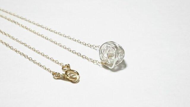 【再販】シルバーモチーフのネックレスの画像1枚目