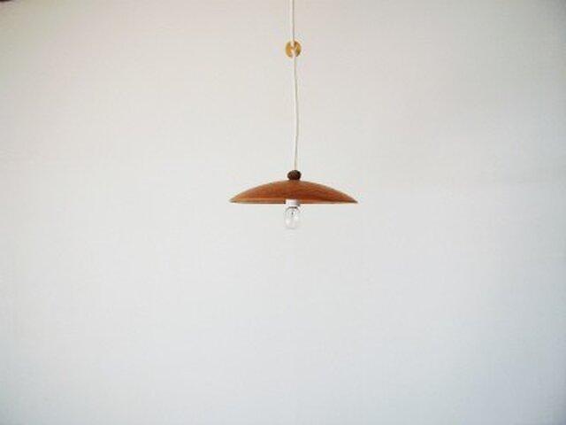 木のランプシェード(チェリー)の画像1枚目