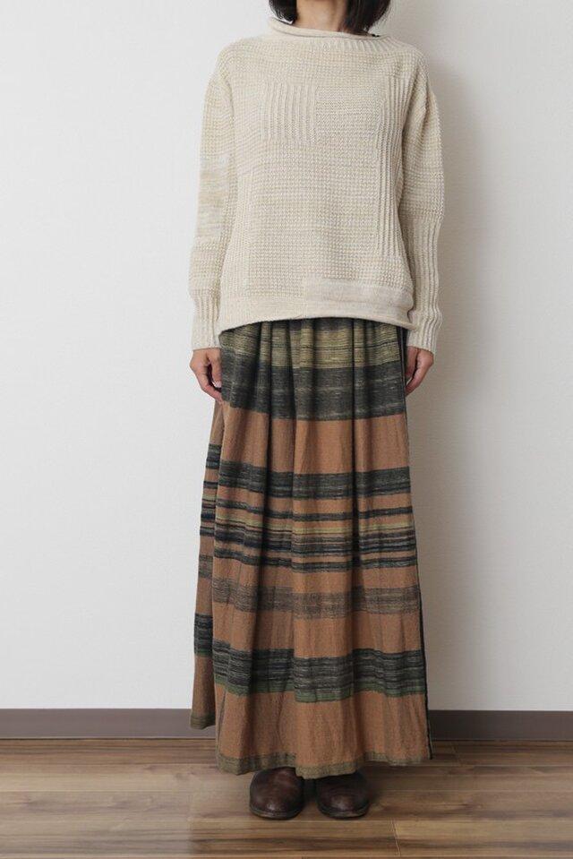 powan skirt LONG wool70の画像1枚目