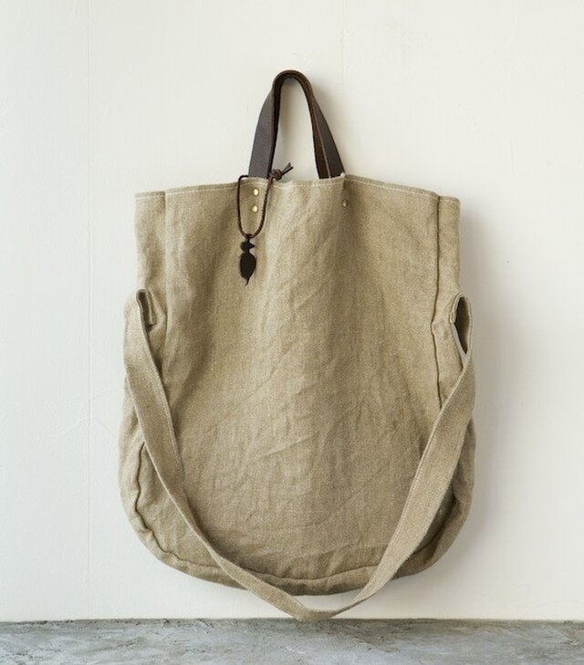 mormyrus hemp 2way tote (T) NATの画像1枚目