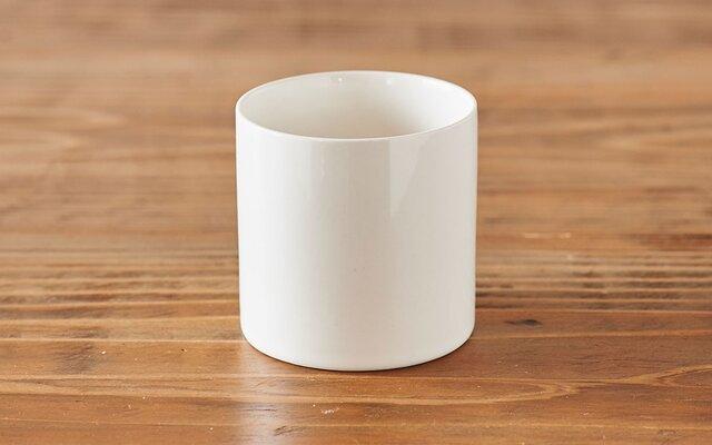 タンブラー 円柱 白の画像1枚目