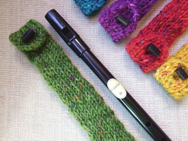 羊毛100% ティンホイッスルケース / Green(グリーン)の画像1枚目