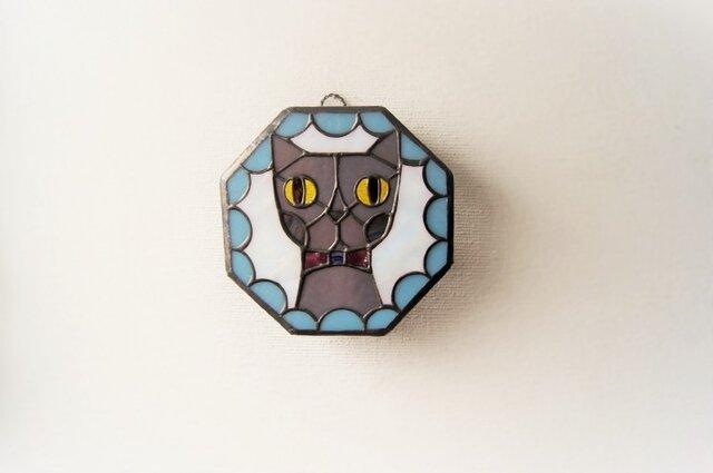 Gさまオーダー品 ネコ壁掛けランプの画像1枚目