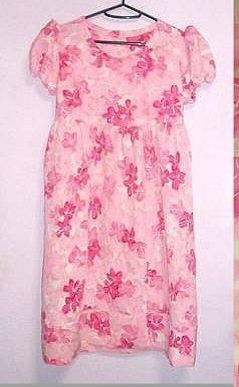 着物リメイク♪桜色ワンピース♪春の画像1枚目