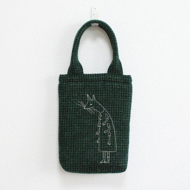 《受注制作》クーネッツの小さいウールバッグ/グリーンの画像1枚目