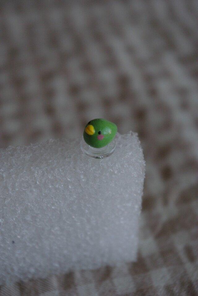 小鳥さんのイヤホンジャック/黄緑の画像1枚目