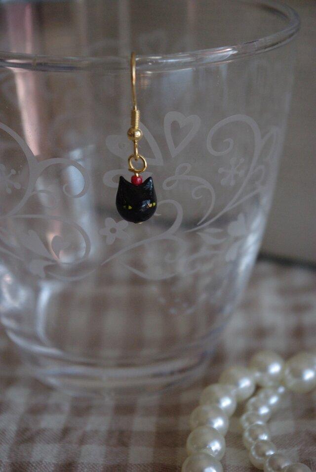 黒ネコ*ピアスの画像1枚目
