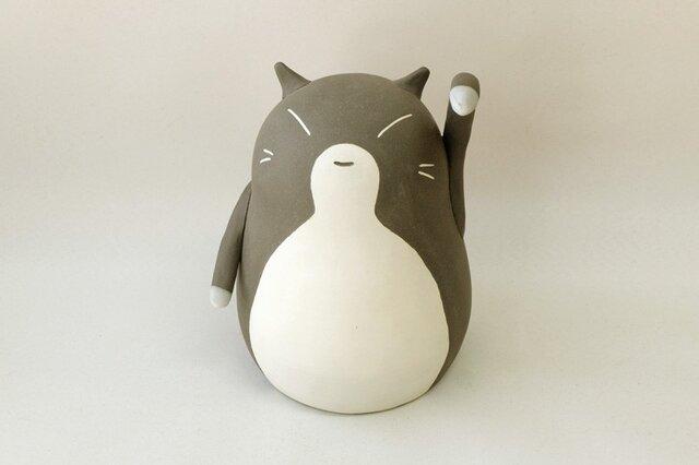 招き猫(大・左手) / 陶器の招き猫、お客さんや友達など人を招くといわれる左手あげの画像1枚目