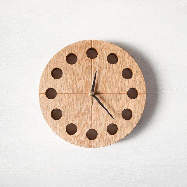 木の時計マル(Φ240) No1 | ナラ【針、選択可】の画像1枚目