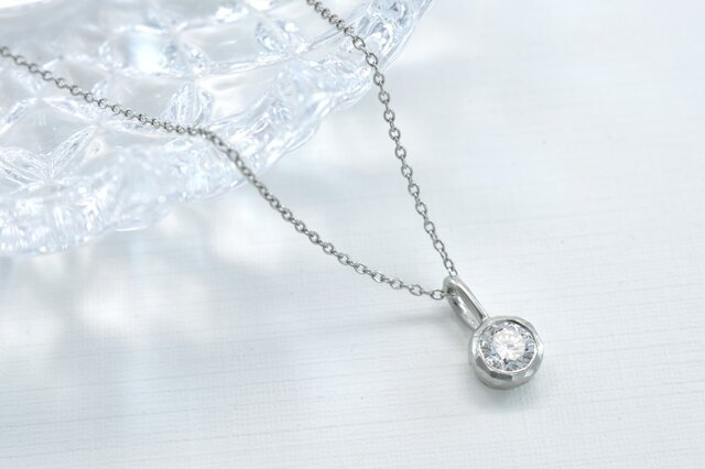Pt900 ダイアモンド0.27ct ネックレス(M-N003)の画像1枚目