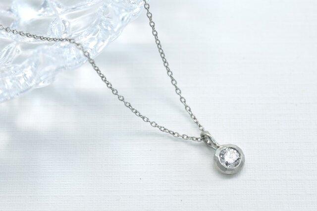 Pt900 ダイアモンド0.15ct ネックレス(M-N004)の画像1枚目