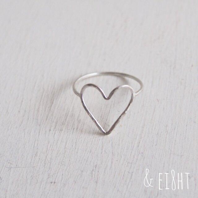 【再販】- Silver - I Heart You Ring - thinの画像1枚目