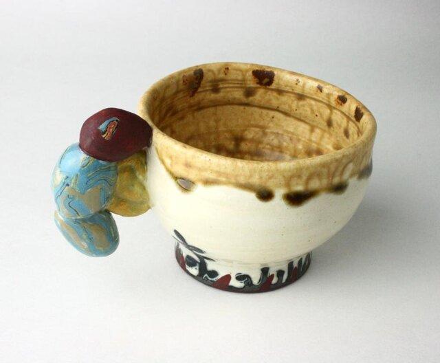 虫っ子のマグカップ/子供マグカップ /陶器 /陶芸家 /キッズマグ/cute ceramicの画像1枚目