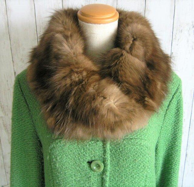 ¶ new antique fur ¶ ロシアンセーブルふかふかnejiriスヌード「ruanbe」の画像1枚目