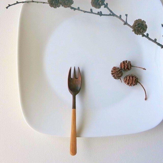 emi様リクエスト分 #111 山桜の木のデザートフォークの画像1枚目