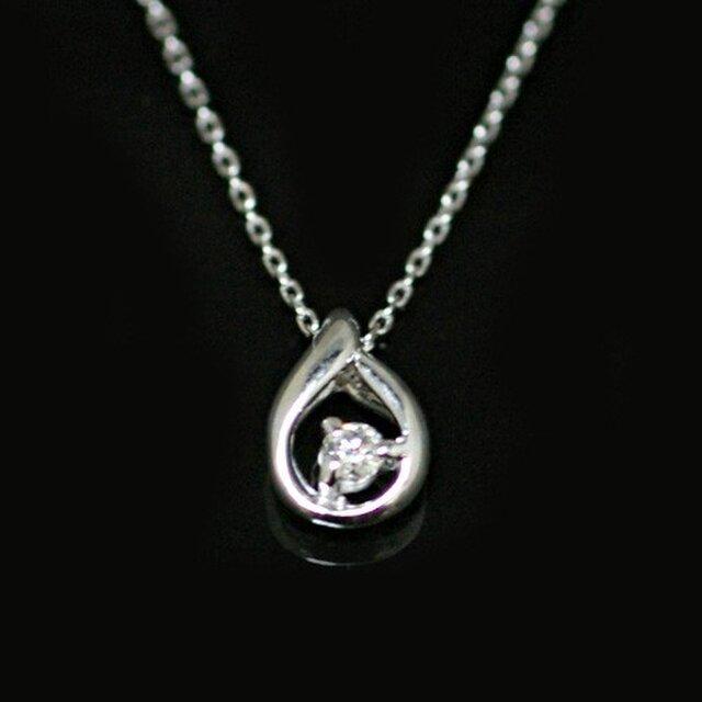 k18 18金 天然ダイヤモンド 一粒石 ネックレスの画像1枚目