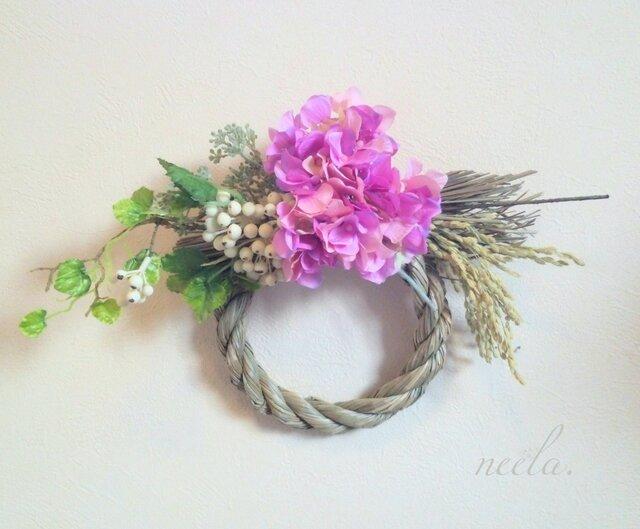 お正月飾り2017~ajisai purple~の画像1枚目