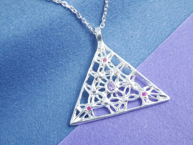 Triangle's power☆ロングネックレスの画像1枚目