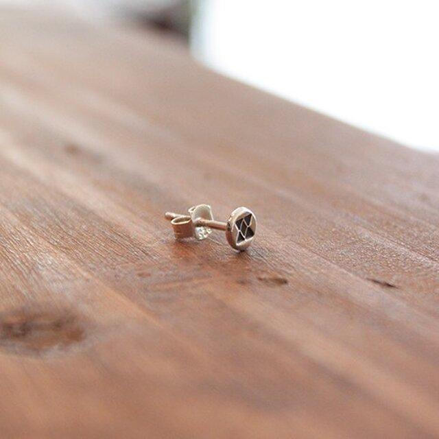 針突(ハジチ)刻印耳飾片耳イチチブシ rpc-43の画像1枚目
