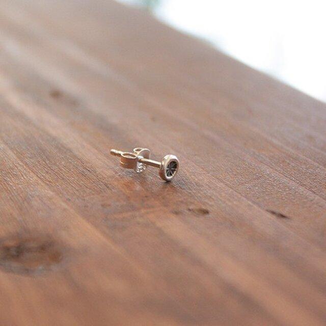針突(ハジチ)刻印耳飾片耳アマン rpc-44の画像1枚目