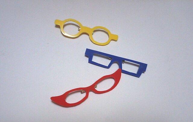 「わたしメガネ好き」アピール用ブローチの画像1枚目