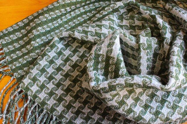 手織のストール 常磐緑(ときわみどり)の画像1枚目