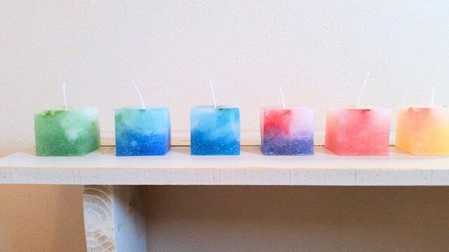 【再販】cube candle set B キューブキャンドルセットの画像1枚目