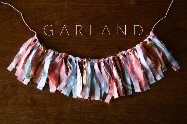パステルgold ribbonガーランド #1の画像1枚目