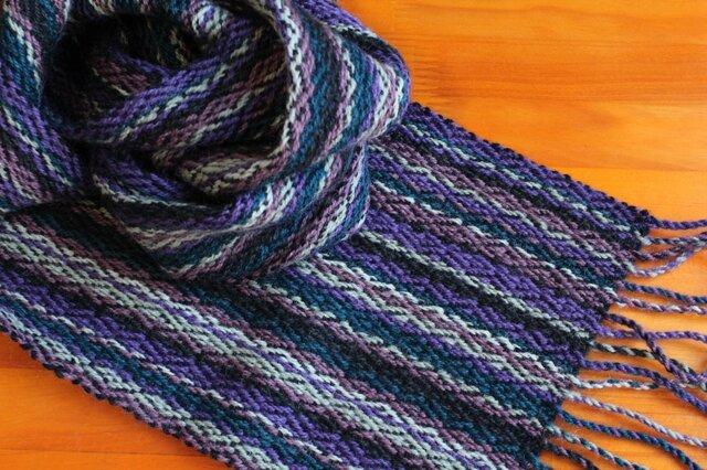 手織のマフラー 滅紫(けしむらさき)の画像1枚目