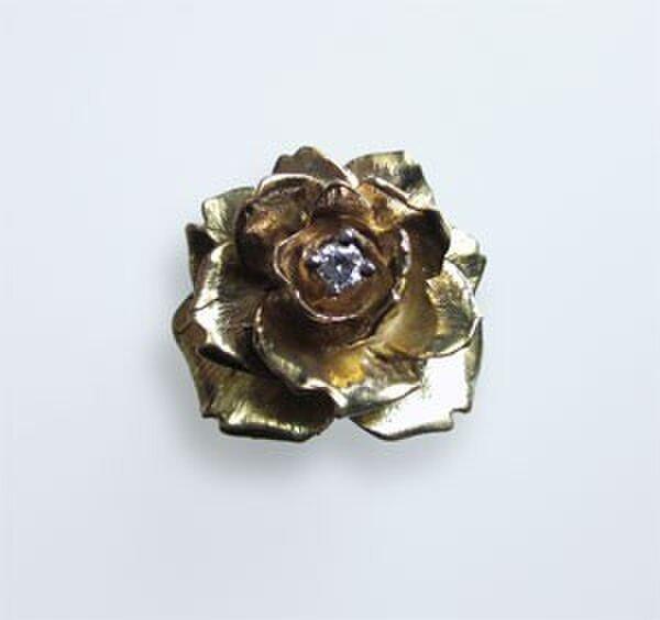 大人のためのK18大輪のバラの指輪の画像1枚目