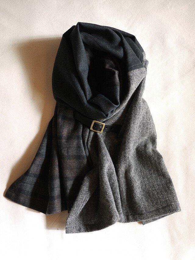 three cloth leathrbelt stole <16aw-j>の画像1枚目