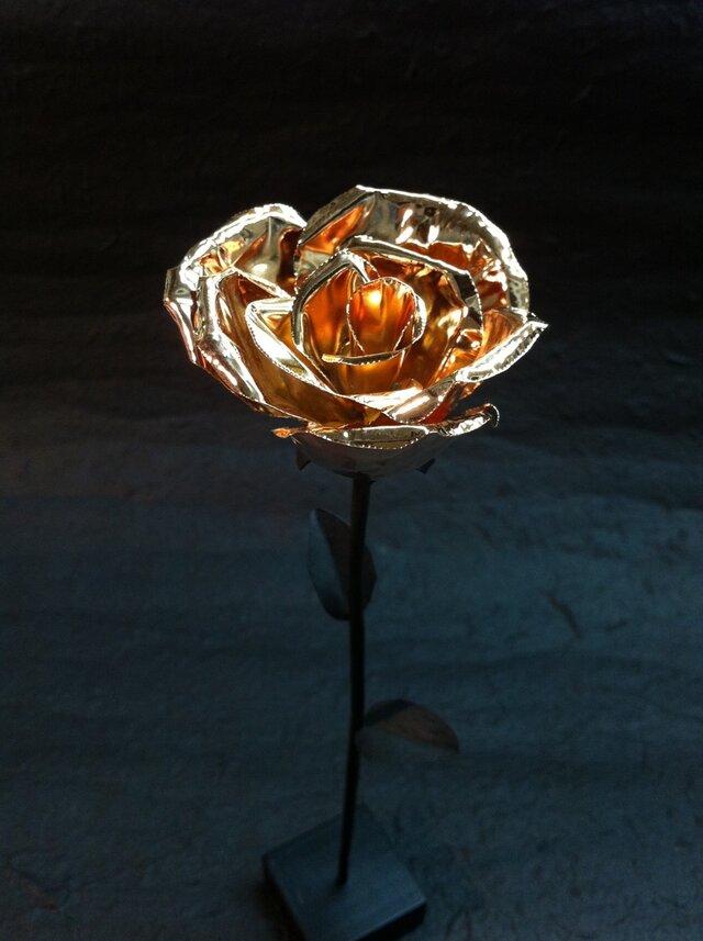 咲くー金属の花 (ピンクゴールド)の画像1枚目