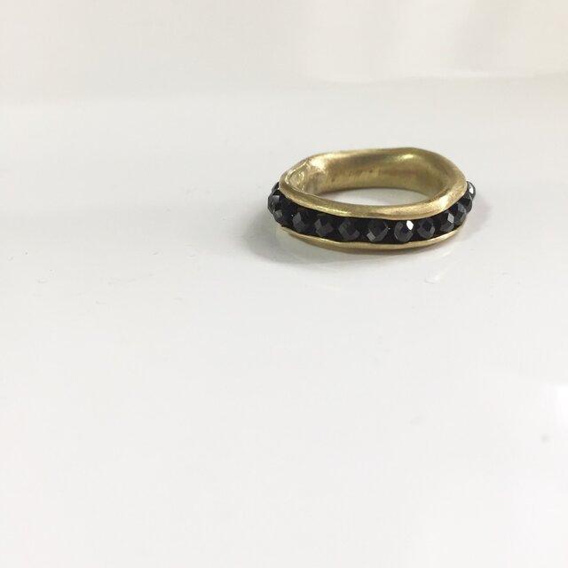 Hold Ring /black spinel/#10の画像1枚目