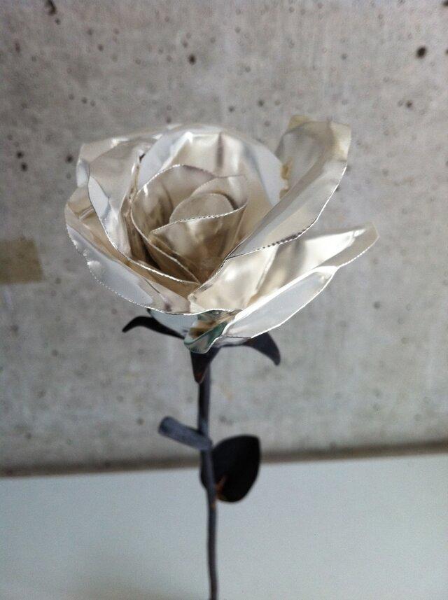 咲くー金属の花 (シルバー)の画像1枚目
