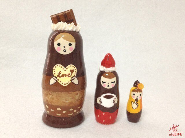 CHOCOLATE LOVE メッセージ・マトリョーシカ (Sサイズ)の画像1枚目