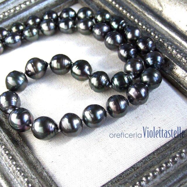 黒蝶貝真珠のネックレスの画像1枚目