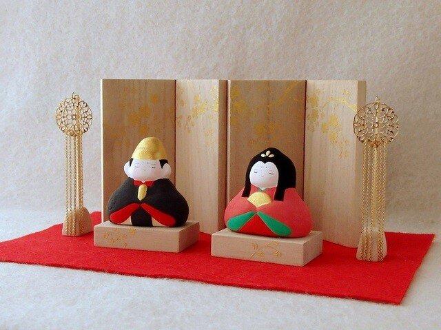 【お雛様】 冨久桃 親王飾りセットの画像1枚目