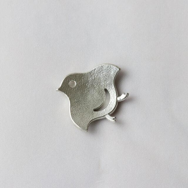 ちどりのカタチの錫の箸置き  [ ちどりがね ]の画像1枚目