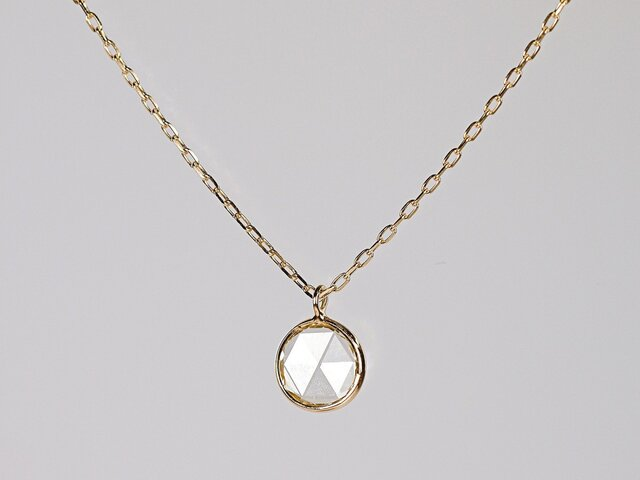 Rosecut Diamond Necklace / Roundの画像1枚目