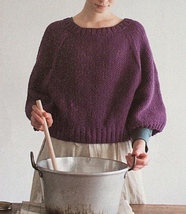 【編み図】セーターアレンジもできる♪ かのこ編みの2WAYカーディガンの画像1枚目