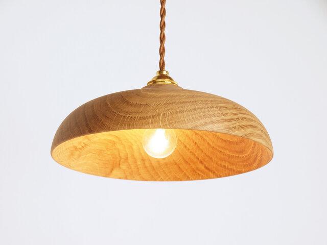 木製 ペンダントランプ 天井照明 楢材10の画像1枚目