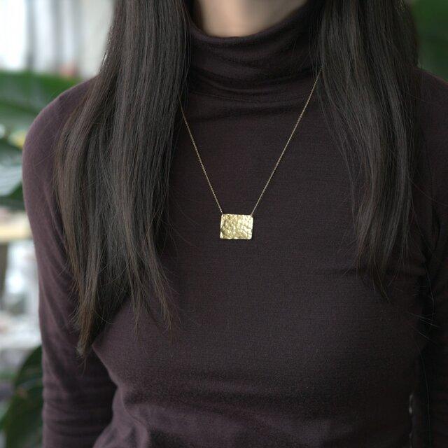 ゴールドスクエアプレート・ネックレス ~Giustinaの画像1枚目