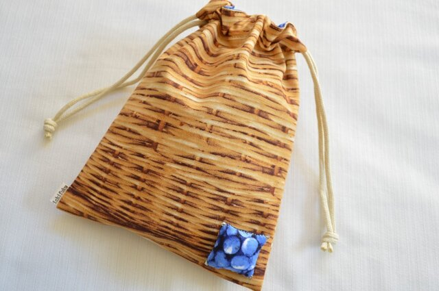 果実なバスケット ブルーベリー・巾着袋の画像1枚目