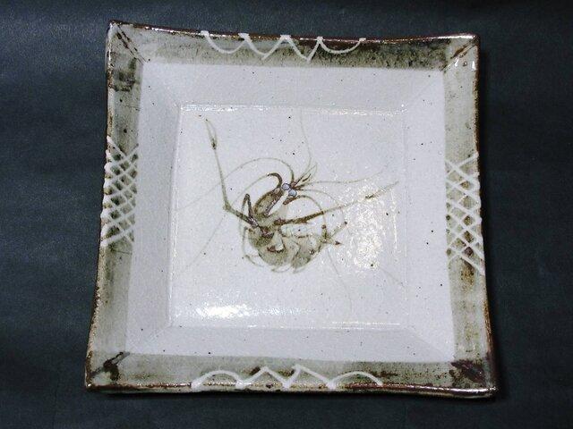 正方形陶板(海老)の画像1枚目