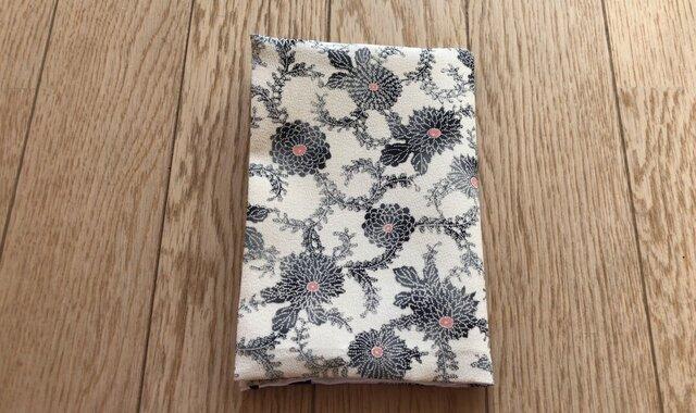 ブックカバー文庫本用 白地に小花の画像1枚目